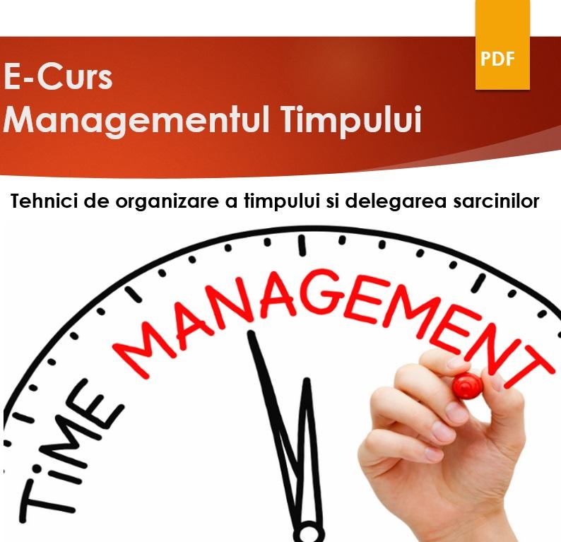 E-curs Managementul timpului