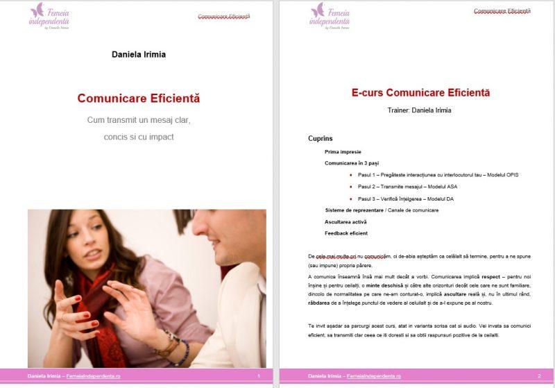 curs comunicare eficienta – daniela irimia