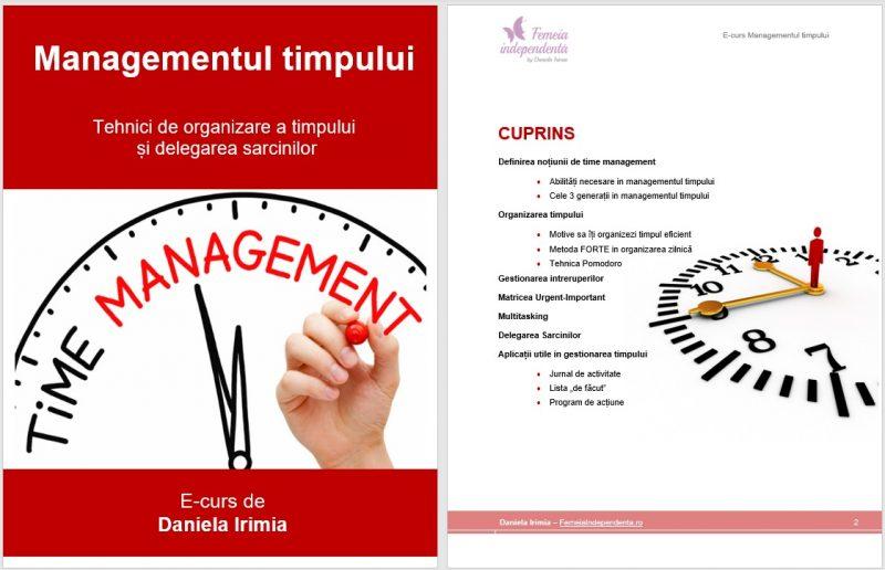 curs managementul timpului- curs online
