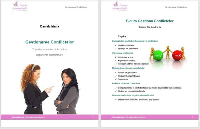 gestionarea conflictelor curs online