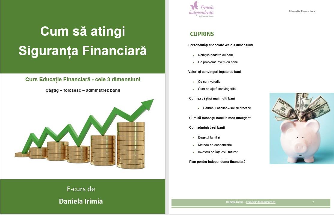 curs de independență financiară