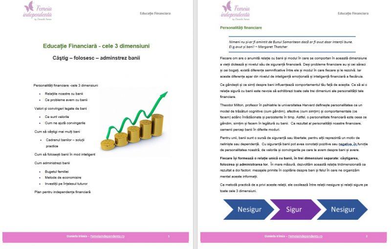 cursuri educatie financiara femeia independenta