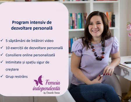 Femeia Independentă – Program online de dezvoltare personală